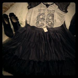 NWT-Lane Bryant Black Tulle Skirt! Fabulous!!
